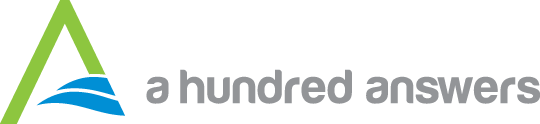 A Hundred Answers logo with wordmark - Links to www.ahundredanswers.com homepage